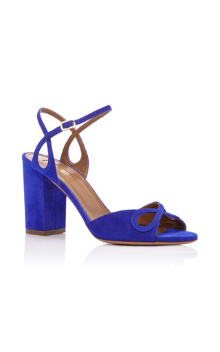 Medium aquazzura blue suede vera sandals