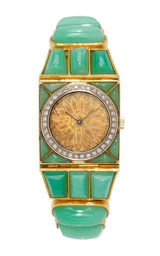 Medium simon teakle green chopard watch