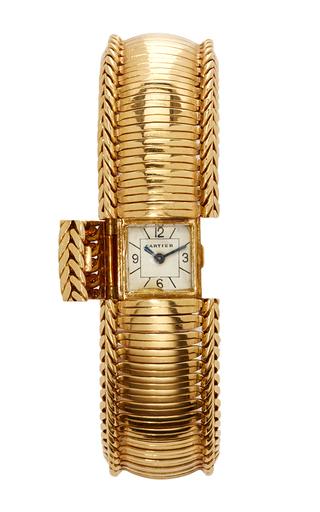 Medium simon teakle gold cartier bracelet watch