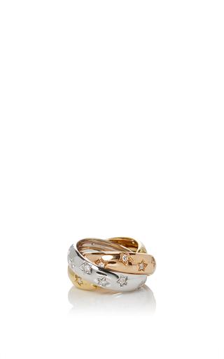 Medium gioia gold diamond stars rolling ring