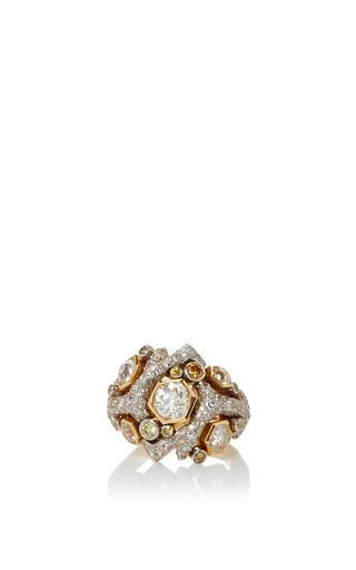 Medium gioia gold coralle diamond ring
