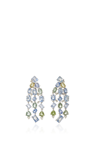 Medium gioia multi sapphire and diamond drop earrings