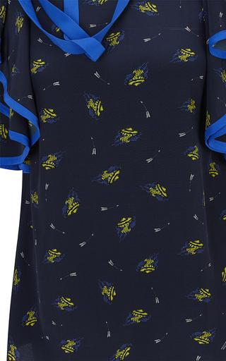 Cosmic Navy Fantasy Flutter Blouse by DOROTHEE SCHUMACHER for Preorder on Moda Operandi