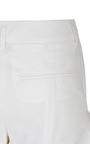 Pure White Cool Attitude Ruffle Shorts by DOROTHEE SCHUMACHER for Preorder on Moda Operandi