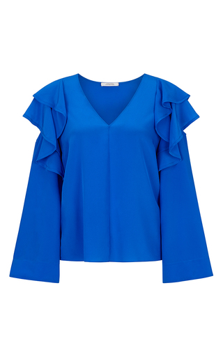 Fabulous Flow Cold Shoulder Blouse by DOROTHEE SCHUMACHER for Preorder on Moda Operandi
