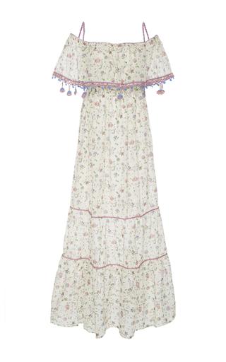 Medium anjuna print violante off the shoulder dress