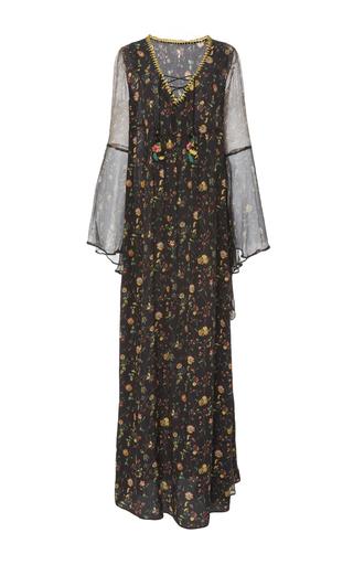 Medium anjuna black vera floral lace up dress