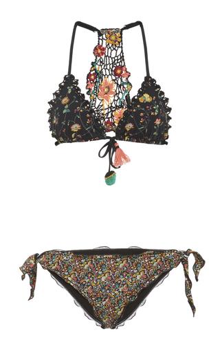 Medium anjuna floral daniela crochet back bikini set