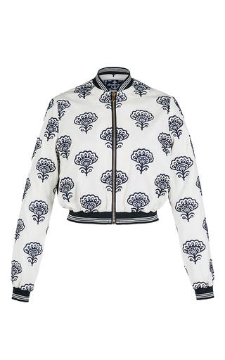 Medium lena hoschek print mate cropped bomber jacket