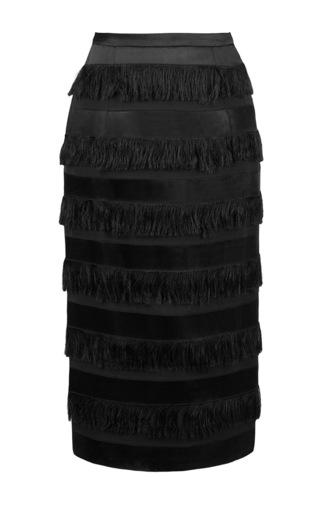 Medium lena hoschek black pencil skirt with tassle detail