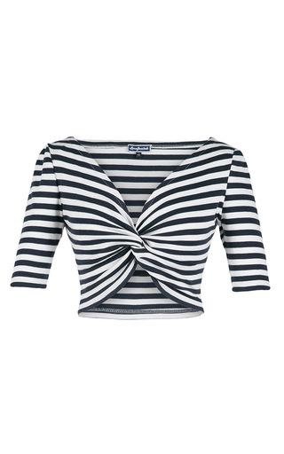 Medium lena hoschek stripe aye aye striped crop top