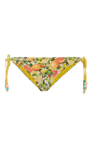 Medium stella mccartney print grapefruit bikini bottom
