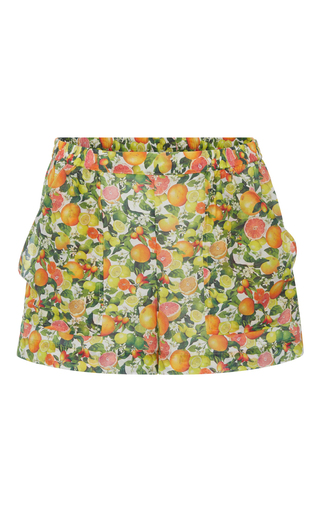 Medium stella mccartney print grapefruit shorts