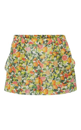 Medium stella mccartney print grapefruit shorts