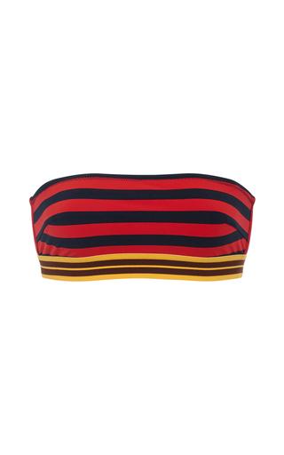 Medium stella mccartney stripe striped bandeau bikini top
