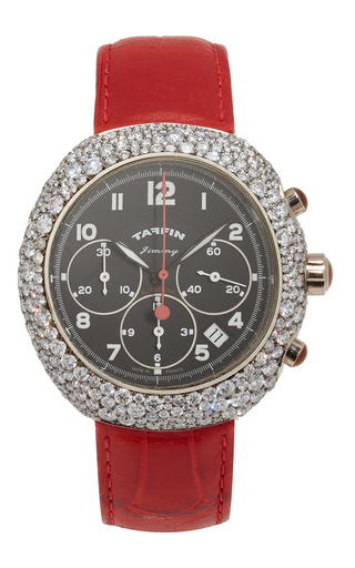 Medium taffin red diamond and white gold jimmy watch