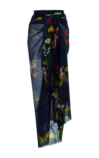 Medium stella mccartney navy embroidered floral sarong