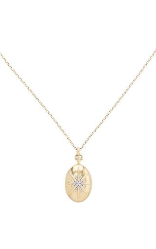 Medium monica rich kosann gold the four premier locket