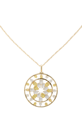 Medium monica rich kosann gold yellow gold kaleidoscope necklace