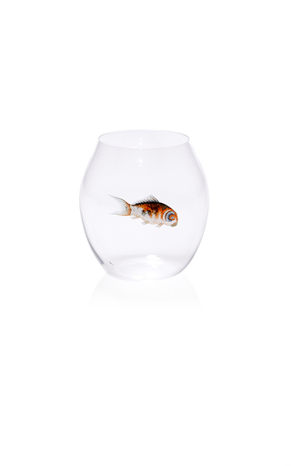 Medium lobmeyr clear glass fish tumbler
