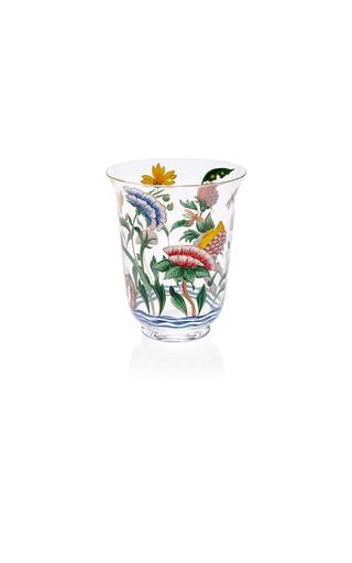 Medium lobmeyr clear chinese handpainted floral tumbler