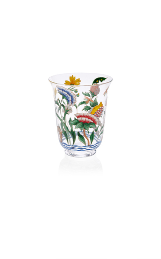 Medium lobmeyr clear chinese handpainted floral tumbler