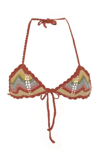 Medium all that remains multi honey chevron crochet bikini top