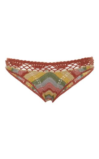 Medium all that remains multi honey chevron striped crochet bikini bottom