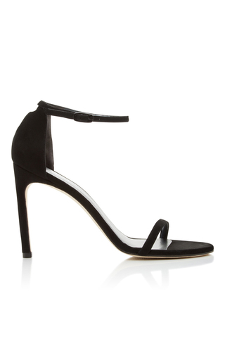 Medium stuart weitzman  2 black nudist sandal suede