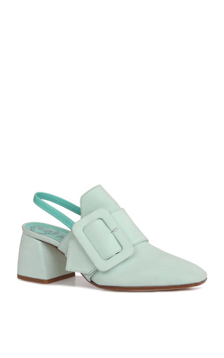 Medium beau coops x romance was born green jasmin leather sling back