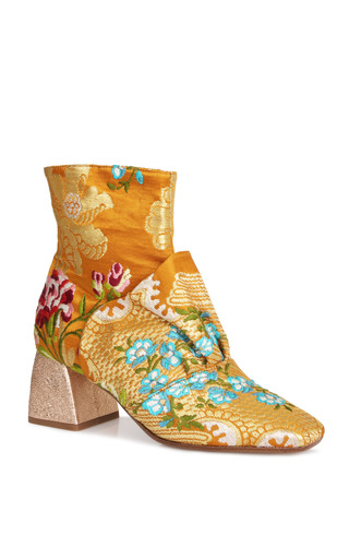 Medium beau coops x romance was born gold adalene silk bootie