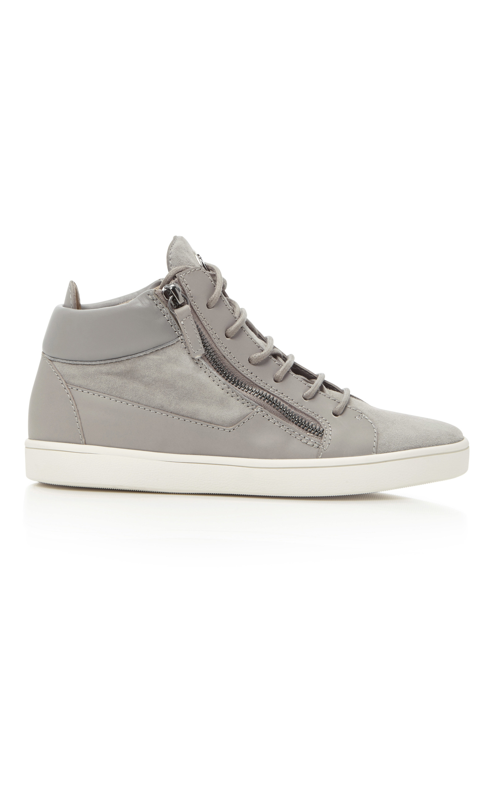 874f82a55316 Sloane Suede and Leather Sneakers by Giuseppe Zanotti