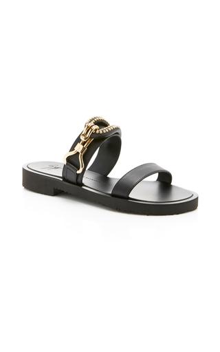 Medium giuseppe zanotti black gomroll sandal