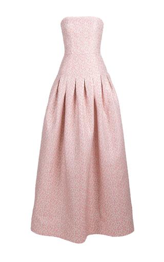 Medium rami al ali pink strapless pleated gown