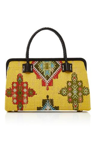 Medium marian paquette yellow laura frame bag