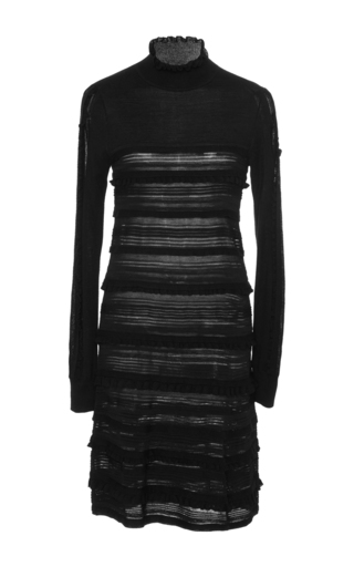 Medium paule ka black long sleeve knitted dress