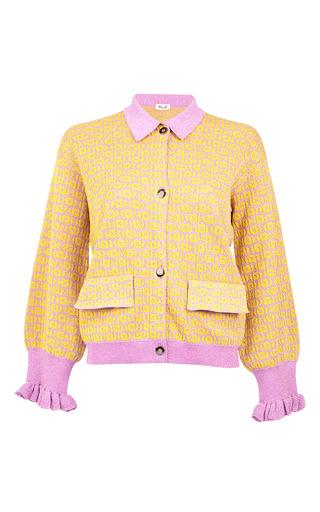 Medium baum und pferdgarten yellow christie lurex cardigan