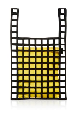 Medium forms studio yellow yellow mesh tote 04