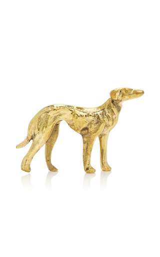 Medium poglia gold signature brass dog