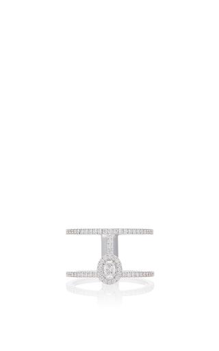 Medium messika rose gold glam azone diamond ring