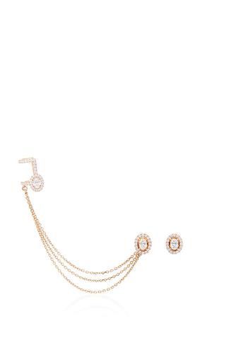 Medium messika rose gold glam azone rock earrings