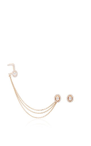 Medium messika rose gold glam azone rock earrings