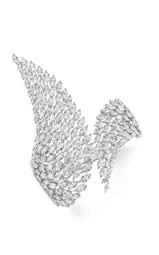 Medium messika silver swan diamond bracelet
