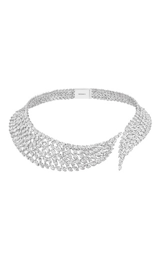 Medium messika silver swan diamond necklace