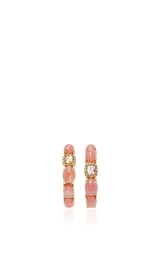 Medium sharon khazzam pink baby hoop earrings