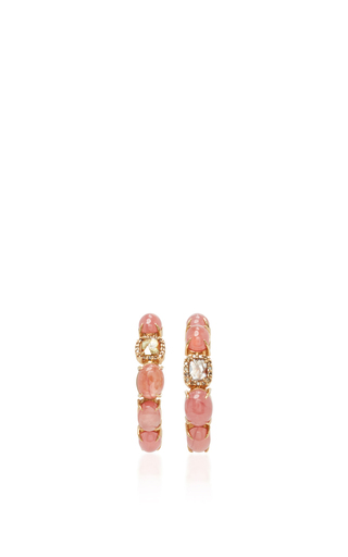 Medium sharon khazzam pink baby hoop earrings