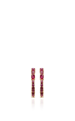 Medium sharon khazzam red baby hoop earrings 2