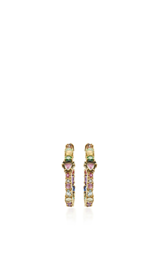 Medium sharon khazzam multi baby hoop earrings 3