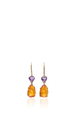 Medium sharon khazzam orange lisa drop earrings
