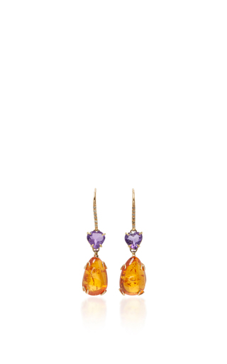 Medium sharon khazzam orange lisa drop earrings